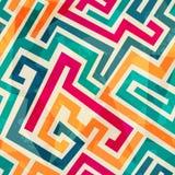 Linhas coloridas teste padrão sem emenda com efeito do grunge Fotografia de Stock