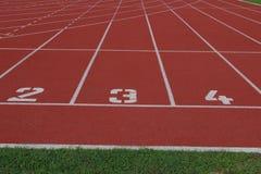 linhas começar de trilha running Imagem de Stock Royalty Free