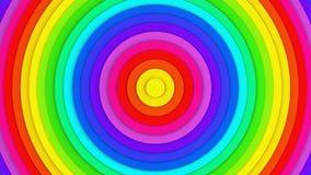 Linhas concêntricas coloridas rendição 3D abstrata Imagem de Stock Royalty Free
