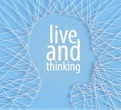 Linhas conceptuais da cabeça humana da ideia Fotografia de Stock