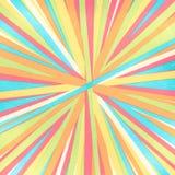 Linhas convergentes - listras coloridas - espectro brilhante do arco-íris de linhas convergentes radiais das cores foto de stock