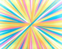 Linhas convergentes - listras coloridas - espectro brilhante do arco-íris de linhas convergentes radiais das cores fotografia de stock