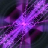 Linhas cor-de-rosa modernas abstratas fora da rendição do fundo 3d do foco Fotografia de Stock Royalty Free
