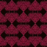 Linhas cor-de-rosa teste padrão no estilo étnico ilustração royalty free