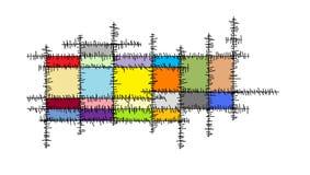 Linhas cruz Fotografia de Stock Royalty Free