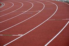 Linhas curvadas de uma marcação do estádio Imagem de Stock