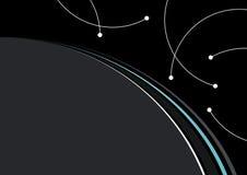 Linhas Curvy fundo Imagens de Stock