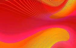 Linhas curvy vermelhas abstratas fundo Fotografia de Stock