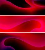 Linhas curvy vermelhas abstratas fundo Foto de Stock Royalty Free