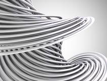 Linhas 3d abstratas Fotografia de Stock