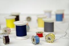Linhas da bobina e da cor do metal Foto de Stock