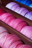 Linhas da cor-de-rosa e do azul Fotografia de Stock
