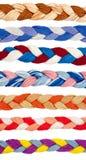 Linhas da cor em um formulário da trança Fotografia de Stock Royalty Free