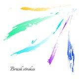 Linhas da escova da aquarela Cursos da escova do vetor Imagens de Stock Royalty Free