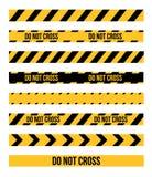 Linhas da fita do perigo Fotografia de Stock Royalty Free