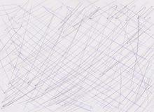 Linhas da pena na textura de papel Imagem de Stock