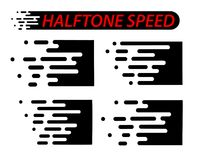 Linhas da velocidade ajustadas isoladas no branco Efeito do movimento Fotografia de Stock Royalty Free