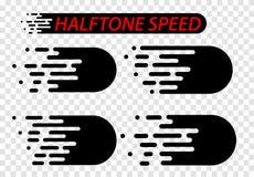 Linhas da velocidade ajustadas isoladas no branco Efeito do movimento Imagem de Stock Royalty Free