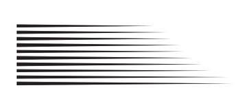Linhas da velocidade do movimento horizontal para a banda desenhada ilustração royalty free