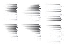Linhas da velocidade isoladas Efeito do movimento Linhas pretas no fundo branco ilustração royalty free