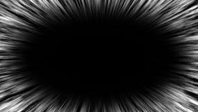 Linhas da velocidade no fundo preto anima??o 4K ilustração stock