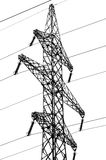 Linhas de alta tensão elétricas Foto de Stock