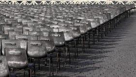 Linhas de cadeiras Imagens de Stock