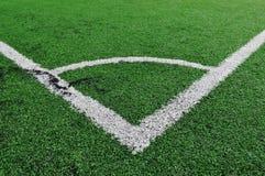 Linhas de campo do futebol Fotografia de Stock Royalty Free