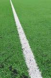 Linhas de campo do futebol Foto de Stock Royalty Free
