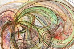 Linhas de cor abstratas no fundo branco Imagens de Stock