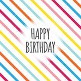 Linhas de cor do aniversário Fotos de Stock Royalty Free