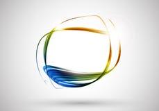 Linhas de cor fundo abstrato Imagens de Stock
