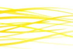 Linhas de cores amarelas da água ilustração do vetor