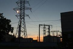 Linhas de eletricidade Imagem de Stock Royalty Free