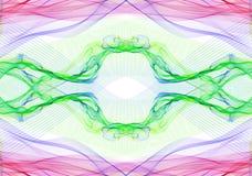 Linhas de eletricidade verdes roxas cor-de-rosa Fotografia de Stock Royalty Free