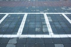 Linhas de estacionamento fotografia de stock royalty free