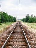 Linhas de estradas de ferro Fotografia de Stock Royalty Free