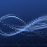 Linhas de fluxo brilhantes azuis da energia Fotos de Stock