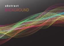 Linhas de fluxo liso isoladas Imagem de Stock