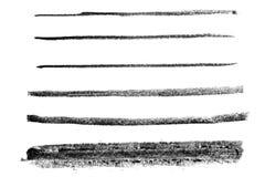 Linhas de giz pretas Foto de Stock
