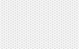 Linhas de grade isométricas ilustração do vetor