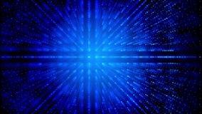 Linhas de grade sumário azul das partículas ilustração do vetor