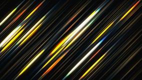 Linhas de incandescência abstratas 3d que rende o fundo colorido ilustração stock