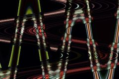 Linhas de incandescência coloridos onduladas sobre imagens de stock royalty free