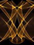 Linhas de incandescência do ouro no preto ilustração royalty free