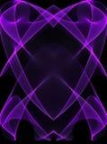 Linhas de incandescência roxas no preto Imagem de Stock
