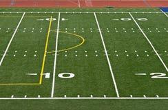 Linhas de jardas do futebol Fotografia de Stock