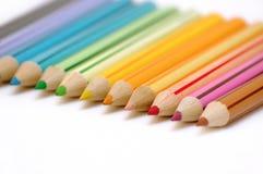 Linhas de lápis da cor Fotos de Stock