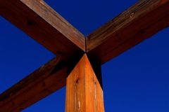 Linhas de madeira foto de stock