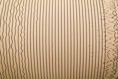 Linhas de Magnitudo de terremoto imagens de stock